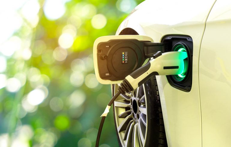 green-ev-charger-pod